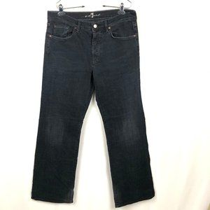 Seven Jeans Men's Size 34 Black Button Fly Bootcut